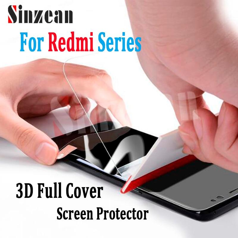 Sinzean 100pcs TOP for Xiaomi 6X A2/5X A1/MAX 3/2 3D curved Full Cover Soft TPU Screen Protecor For Redmi Note 6 Pro/6A Film
