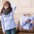 Мода Хлопок беременные пальто беременных топы Уход одежда Грудное Вскармливание рубашки Кормящих Топ для женщин горячий продавать