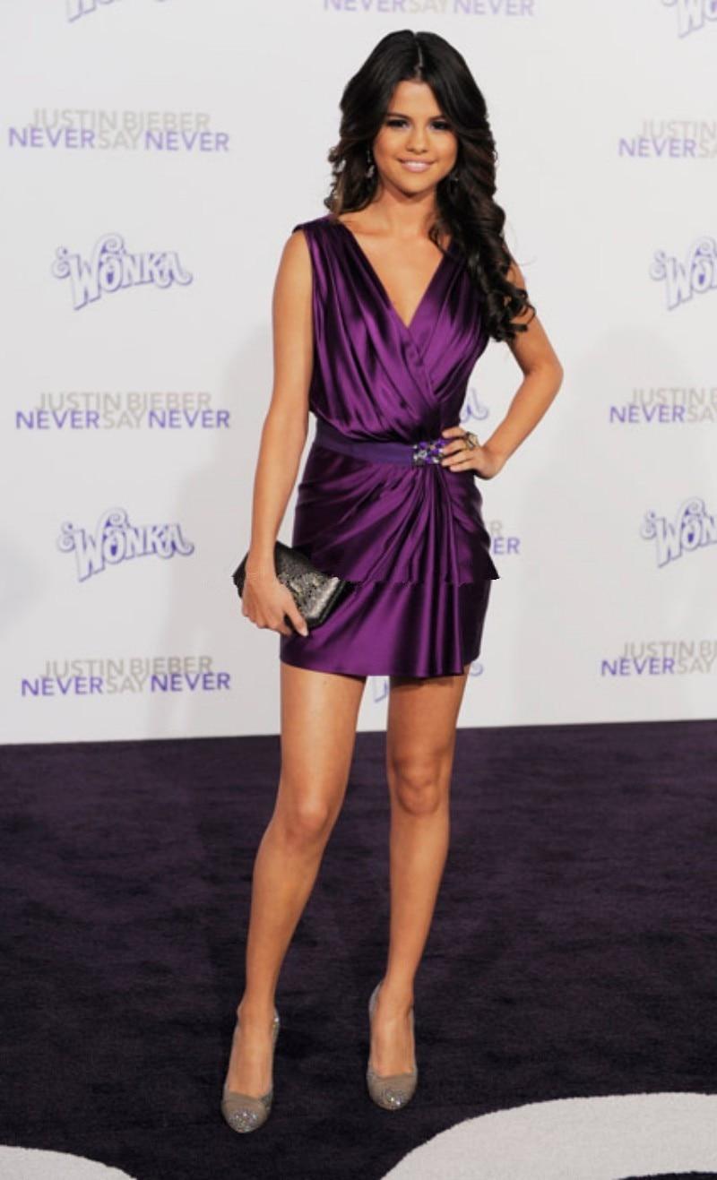 Selena Gomez Red Carpet Short Dresses