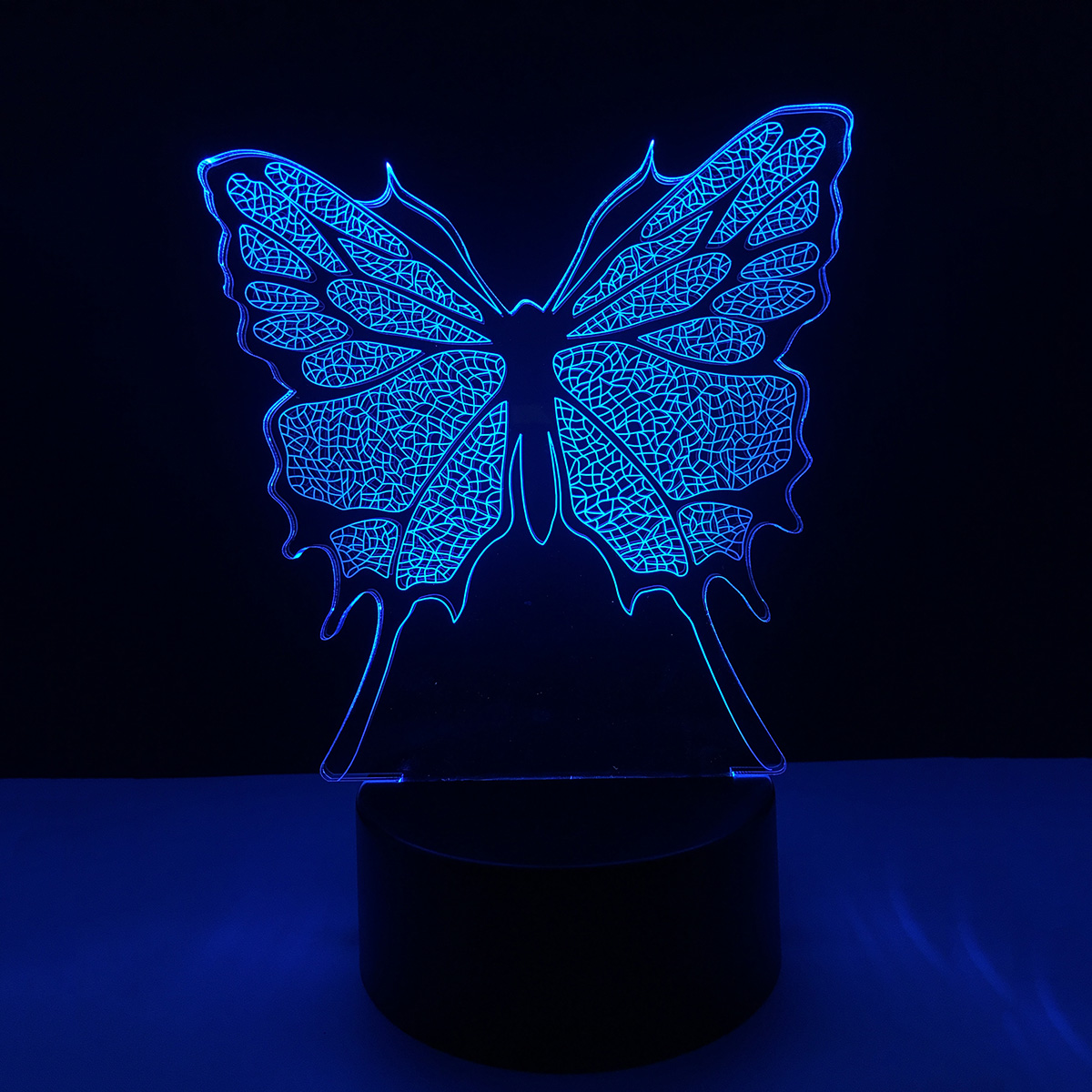 Colorful 3D butterfly USB LED Acrylic Night Light Touch Switch Nightlight Home Decor Creative Atmosphere Bedroom Desk Lamp abstract 3d creative colorful nightlight