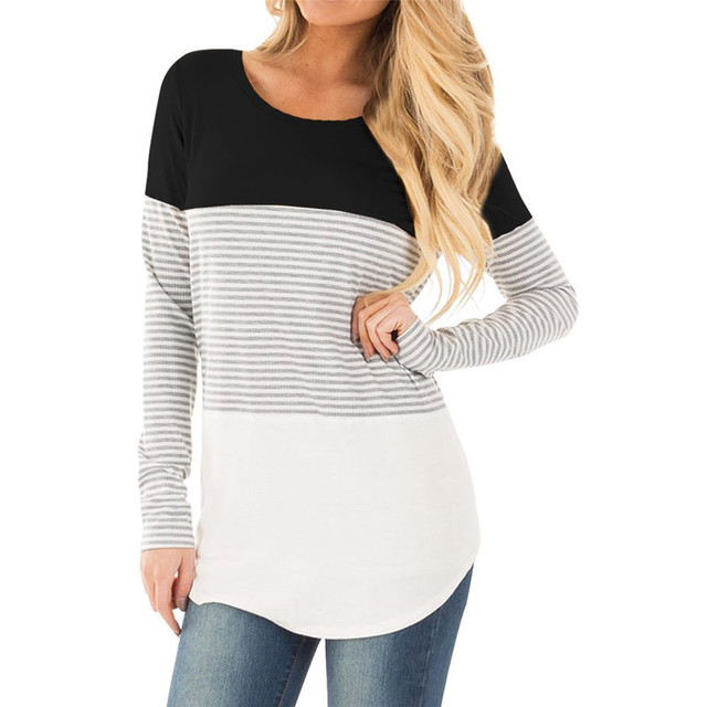 c6ca8eda844 MUQGEW Maternity Clothes Women Mom Pregnant Nursing Baby Maternity Long  Sleeved Striped Breastfeeding Clothing for Pregnant