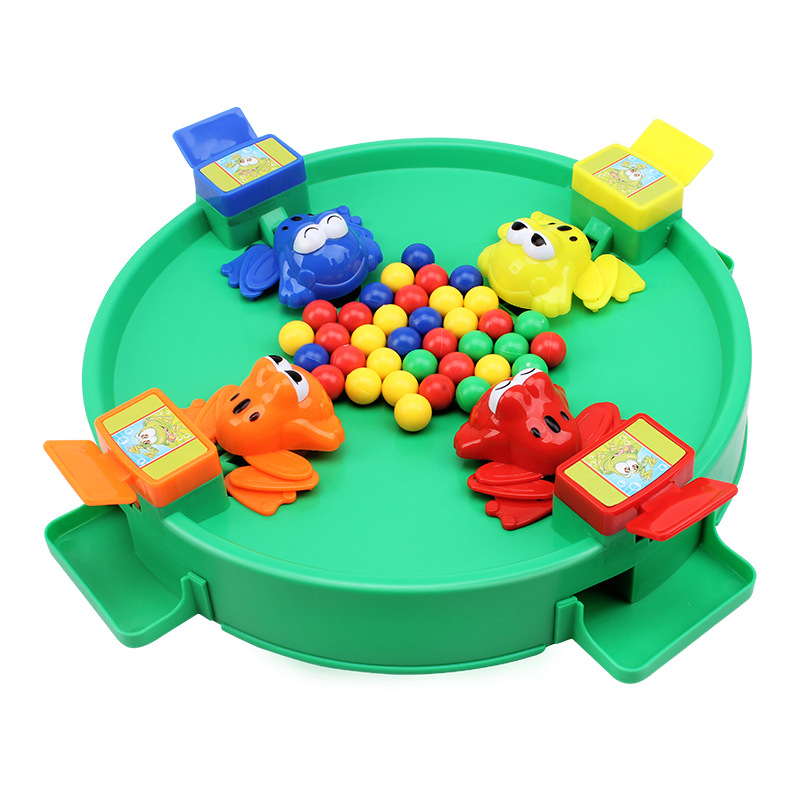 New Frog Eat Beans Children Tabletop Game Parent-child Interactive Board Games Party Frog Family Game Kids Educational Toys