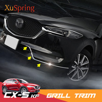 For Mazda CX 5 CX5 2017 2018 2019 KF Front Bottom Bumper Molding Grill Trim Cover Stickers Garnish Car accessories NEW styling