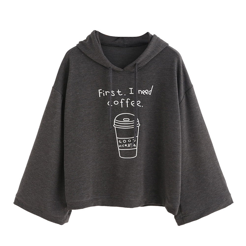 Women Winter Long Sleeve Hoodies Sweatshirts harajuku Hooded Sweats Clothing Feminina Loose Short Fleece Jumper Sweats