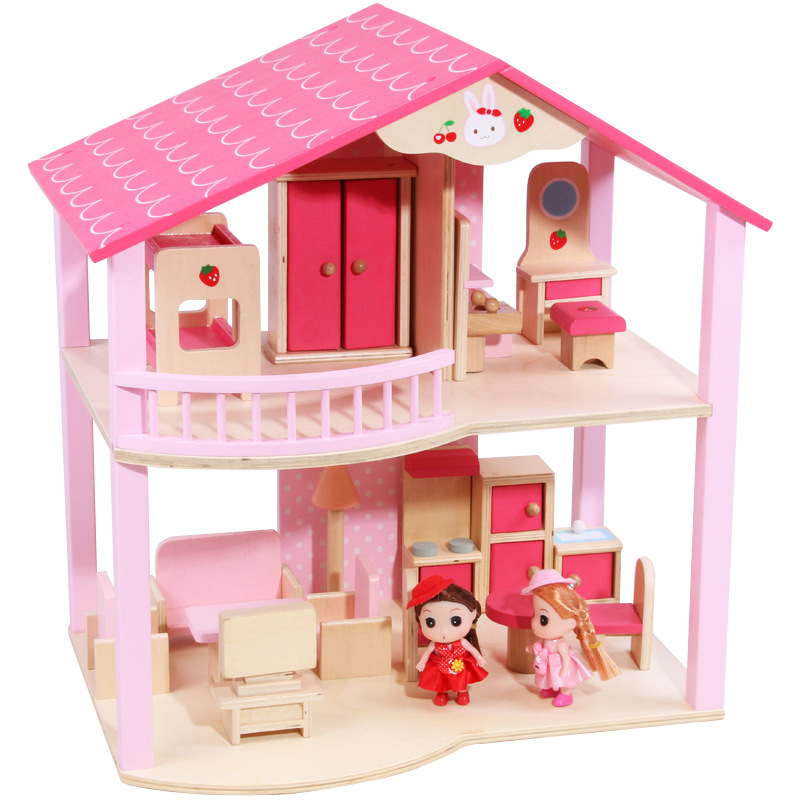 цена на CUTEBEE Pretend Play Furniture Toys Wooden Dollhouse Furniture Miniature Toy Set Doll House Toys for Children Kids Toy New House