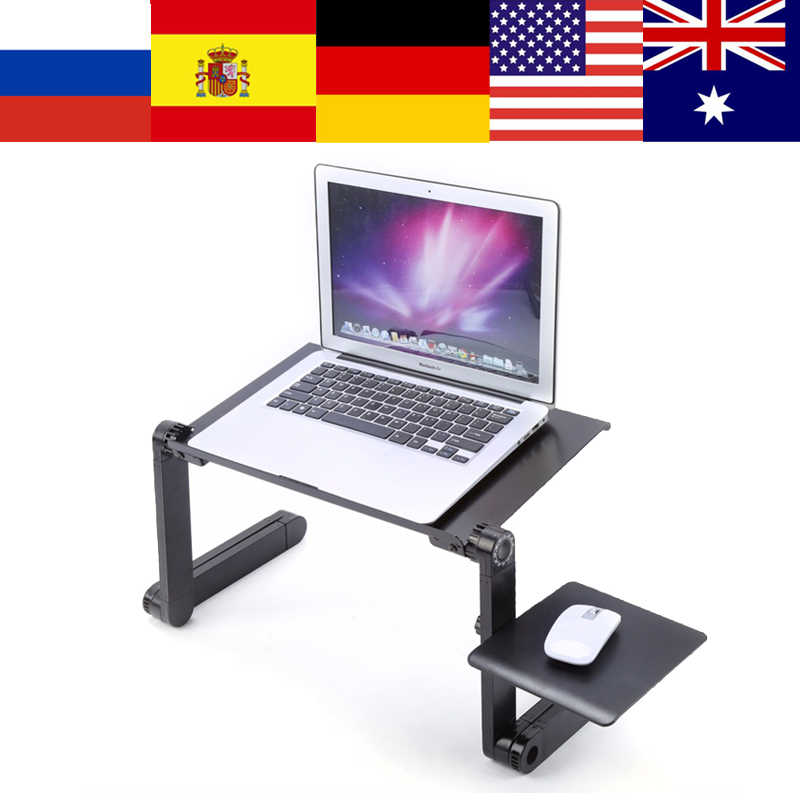 Adjustable Portable Laptop Table Stand Lap Sofa Bed Tray Computer Notebook Desk Bed Table With Mouse Pad