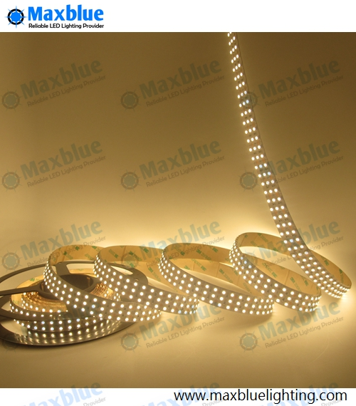 SMD3528 LED Strip Light 5M 360LEDs/M 24Vdc 1800LEDs <font><b>7</b></font>-8LM/LED CRI 80+Ra in <font><b>3</b></font> Lines Rows Nonwaterproof LED Ribbon Tape Light image