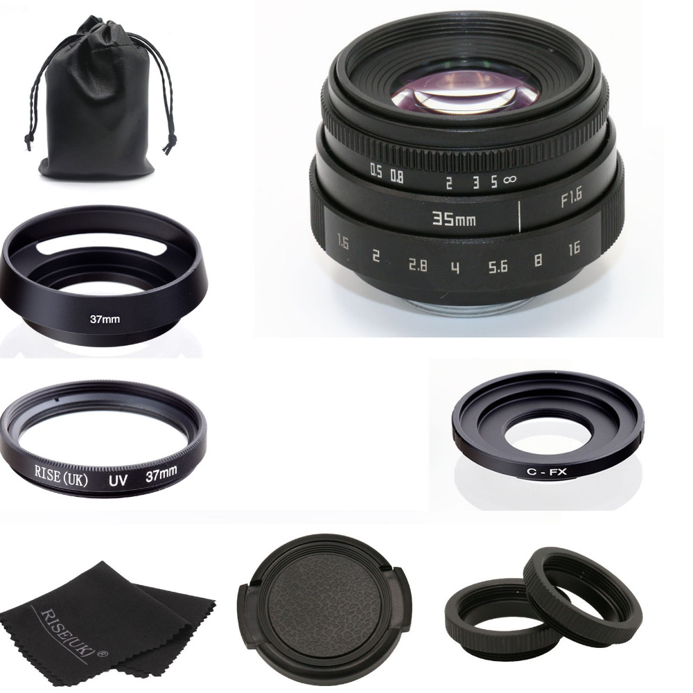 new style fujian 35mm f1.6 C mount CCTV camera Lens II kit for Fuji Fujifilm X-Pro1 (C-FX) free shipping 35mm lens c mount f 1 7 lens cctv lens features alloy casing free shipping