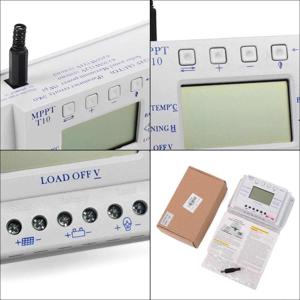 LCD 10A 12 V/24 V MPPT Panel Solar regulador de batería controlador de carga tres veces