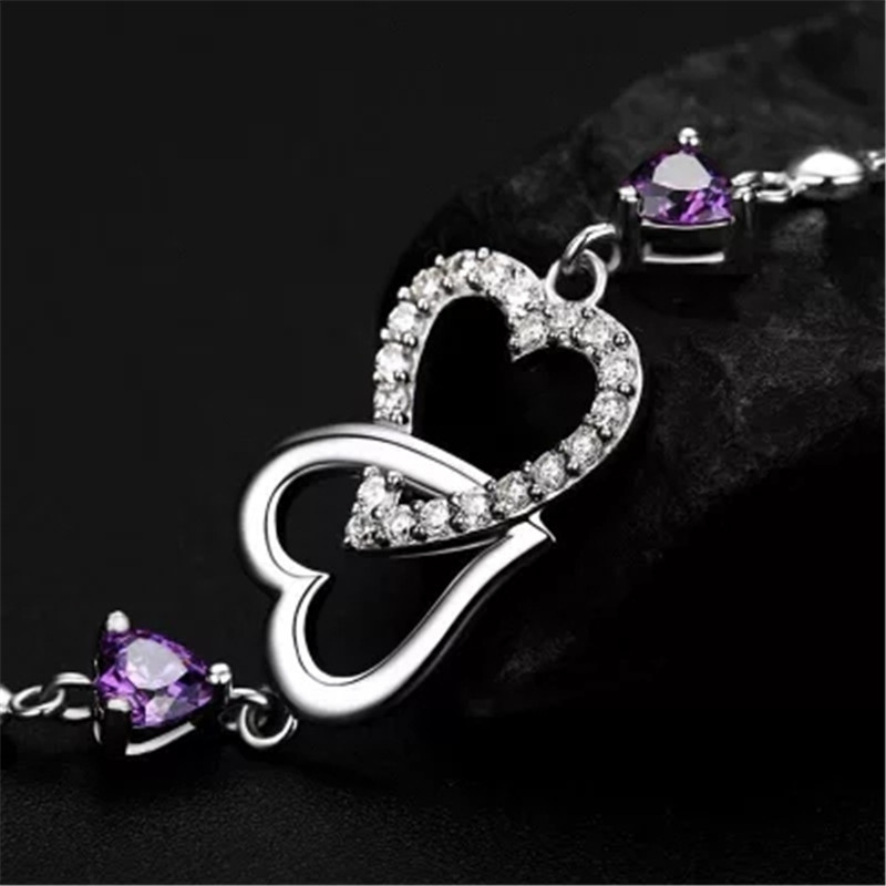 925 pure silver ring The butterfly set drill ring Sterling silver jewelry woman Holiday gifts in Chain Link Bracelets from Jewelry Accessories