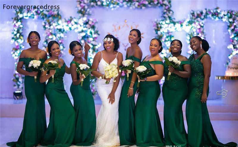 New Nam Phi Bridesmaid Dresses 2019 Mùa Hè Vườn Quốc Gia Wedding Party Guest Maid of Honor Gowns Cộng Với Kích Thước Tùy Chỉnh Thực Hiện