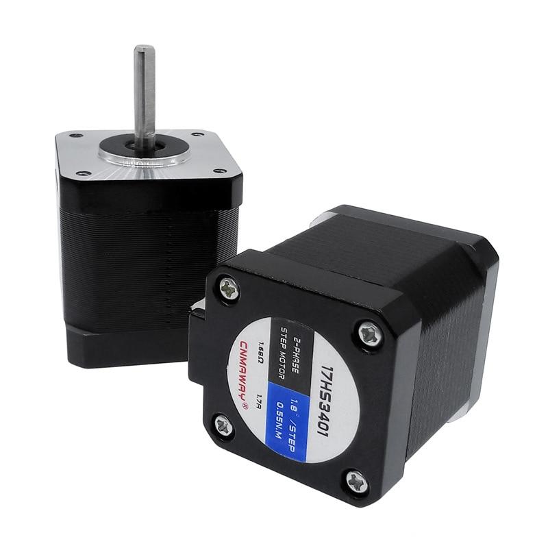 Nema17 48mm 42 Stepper motor 4-lead 17 step 80 oz-in 1.7A 0.55N 2 PHASE for 3D print driver CNC XYZ 17HS3401Nema17 48mm 42 Stepper motor 4-lead 17 step 80 oz-in 1.7A 0.55N 2 PHASE for 3D print driver CNC XYZ 17HS3401