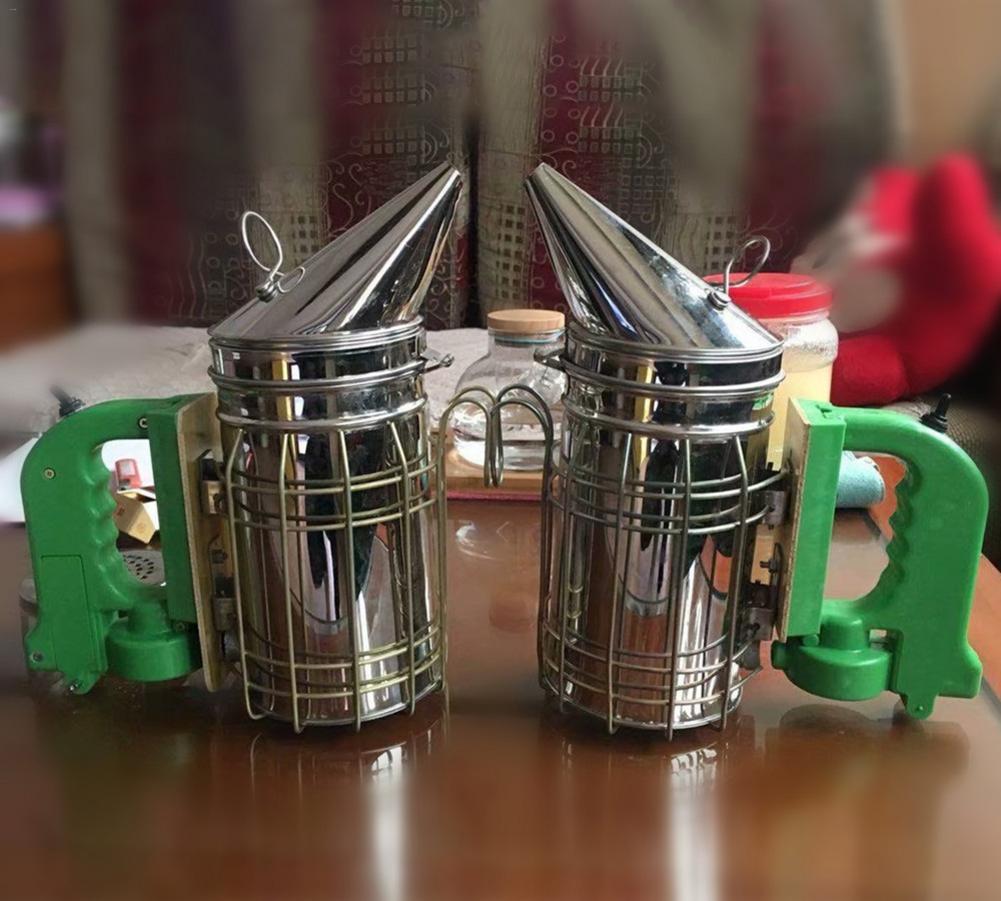 Stainless Steel Electric Bee Hive Smoker Smoke Transmitter Beekeeping USB Charge