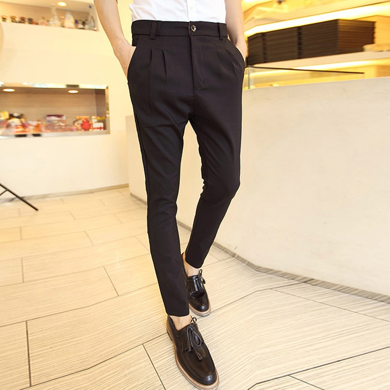 Aliexpress.com : Buy drop crotch pants men British style skinny