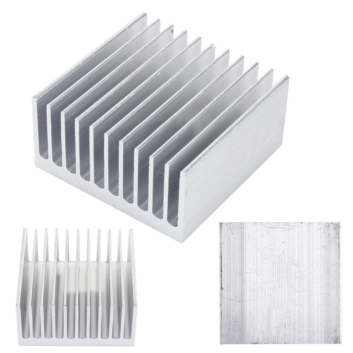 1 Piece New White 11 Tooth 40mm 40mm 20mm Aluminium Radiator Heatsink Heat Sink FGHGF