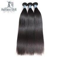Amanda Brazilian virgin Hair Straight 100g/Bundle Mix Length 100% Human Hair Weave Bundles Extension Brazillian Straight Hair