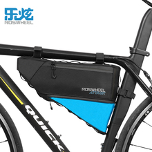Roswheel full waterproof bicycle bag triangle bag road car front beam bag mountain bike saddle bag bicycle upper tube package eq ring front saddle bag