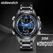2019  mens watch top addies luxury brand quartz waterproof sport watches digital wristwatch luminous alloy strap