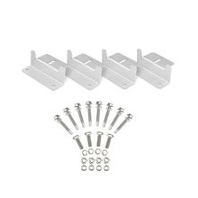 4Pcs/Set Solar Panel Z Style Aluminum Brackets Nuts Bolts And Washers For Mounting Solar Panels On Motorhomes Caravan Boat Roofs