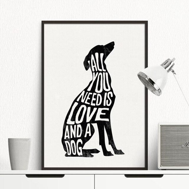 Italian Greyhound Poster Dog art Minimal,dog canvas painting Wall ...