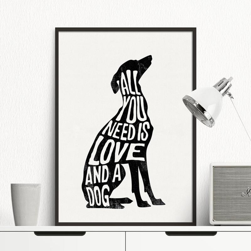 Italian Greyhound Poster Dog art Minimal,dog canvas painting Wall Art Print Canvas Minimalist Poster, Home Decor No Frame