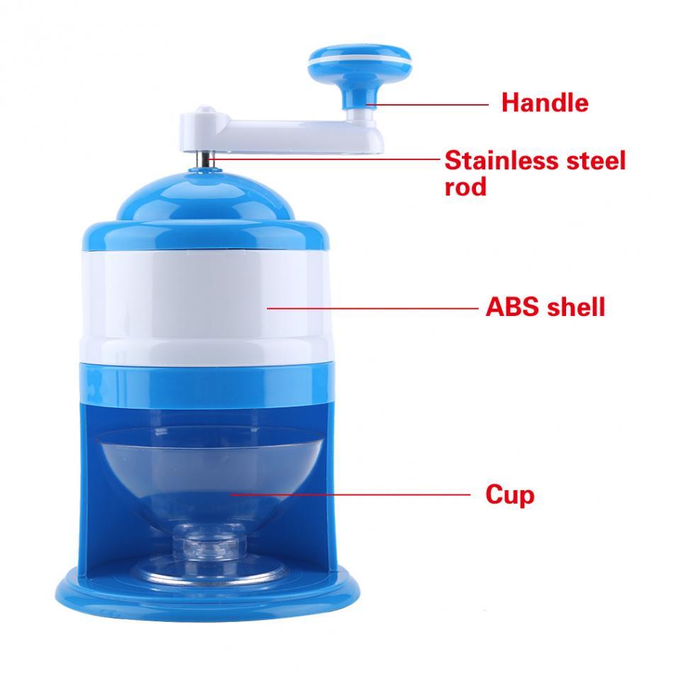 Manual Ice Crusher Radhna Plastic Manual Ice Gola Maker at Home 6 ...