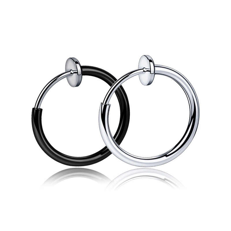 0f6db9665 Mens/Womens Stealth No piercing Earrings ear Cuff Spring Clip Helix Ring  Hoop Fake Ear