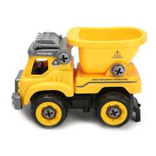 24 Sets/box New DIY Engineering Truck Muck Electric Assembly Remote Control Vehicle Model Toy Game