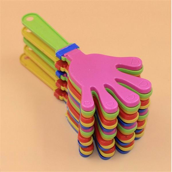 200pcs Plastic Hand clapper clap toy cheer leading clap for Olympic game football game Noise Maker Baby Kid Pet Toy