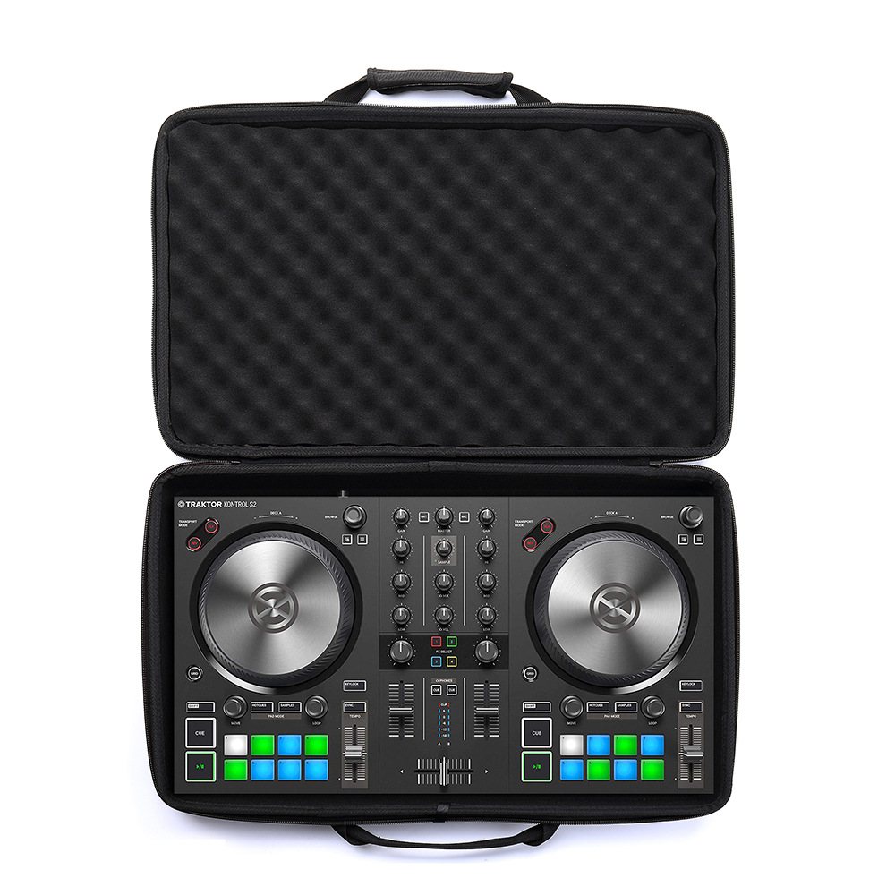 hard carrying case for traktor kontrol s2 mk3 dj controller only sell case in hard drive bags. Black Bedroom Furniture Sets. Home Design Ideas