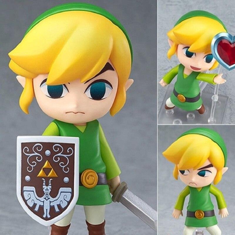 Hot! NOUVEAU 10 cm Légende de Zelda Lien action figure jouet cadeau De Noël avec boîte D'origine
