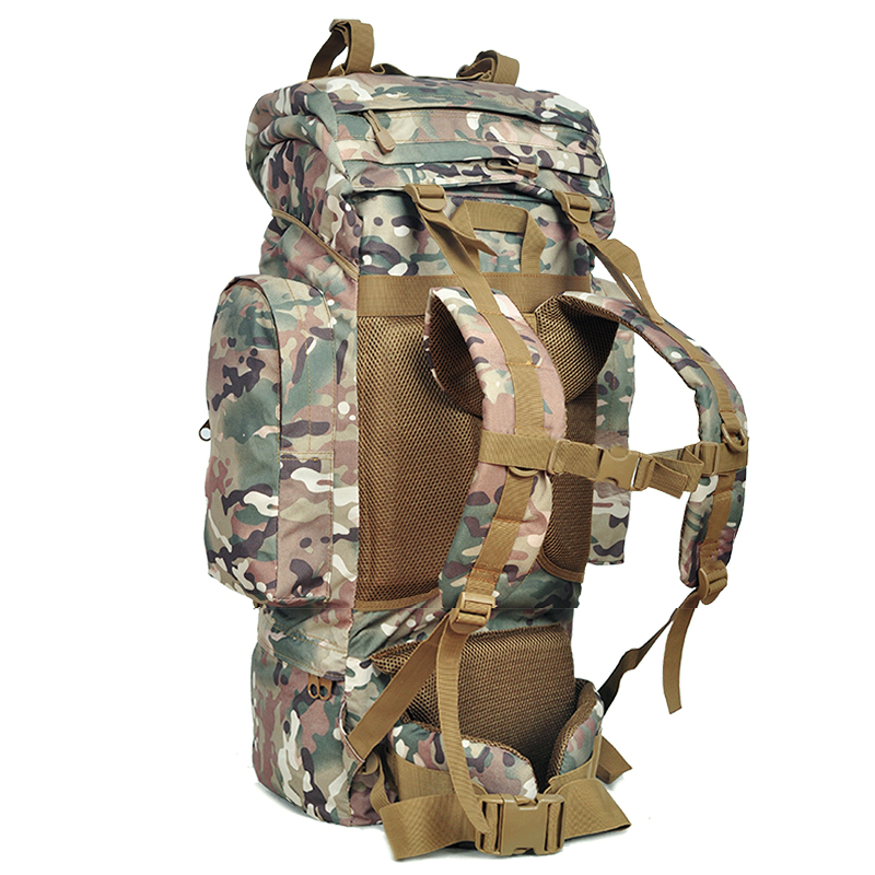 65L Military Travel Assault Pack Backpack Army Molle Waterproof Bug ...