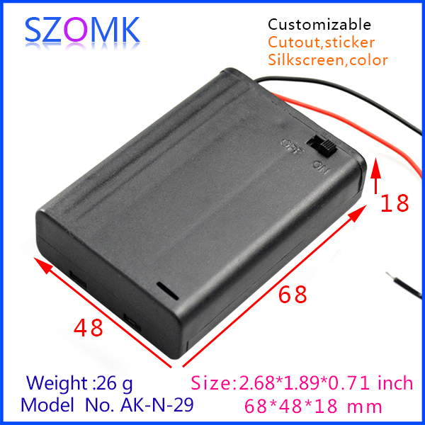 1 piece  free shipping abs plastic enclosures  plastic project box GPS tracker abs box 68x48x18mm  abs electronics housing 1 piece free shipping abs plastic electronics enclosures case housing for design and any device box could be hang up