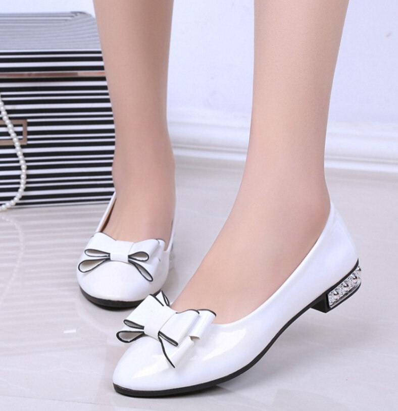 2017 Spring Autumn Fashion bowknot Women Shoes Pointed Toe Slip-On Shoes Woman Comfortable Single Casual Flats zapatos mujer spring summer women flat ol party shoes pointed toe slip on flats ladies loafer shoes comfortable single casual flats size 34 41