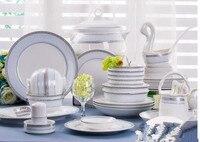 Ceramika obiadowy zestaw 56 sztuk porcelany kostnej naczynia