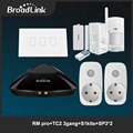 Smart home automation kit, broadlink rm2 rm pro controlador inteligente universal, s1/s1c kits wifi smart switch tc2 3 gang, sp3 enchufe