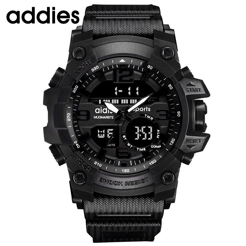 AIDIS Men Military Watch 30m Vattentät Armbandsur LED Quartz Clock - Herrklockor - Foto 4