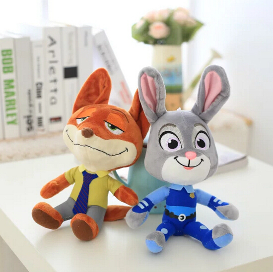New 27cm/30cm Movie Zootopia the Rabbit Judy Hopps Fox Nick Wilde Plush Toy Cute Zootropolis Plush Soft Doll for Kids 2016 zootopia figures keychain ring toys doll set 2016 new cartoon animal abbit judy hopps nick fox