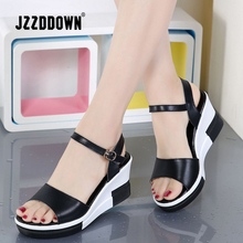 Phụ nữ Nền Tảng dép giày nữ Da Chính Hãng trắng flat Sneakers giày mùa hè 2018 Thời Trang nền tảng Cao Gót giày dép