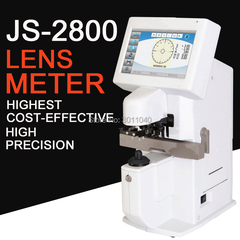 Auto Lensmeter JS2800 Colorful Touch Screen Automatic Auto Lensmeter Lensometer Focimeter