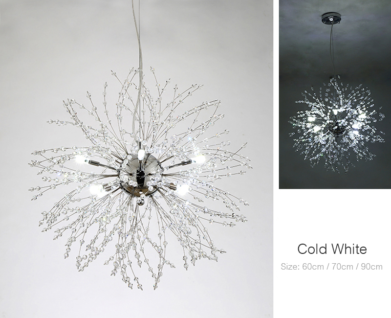 Nordic 110V-240V Crystal Dandelion Pendant Lamp Personalized Luxury Romantic Pendant Lights Creative Chandelier For Living Room Restaurant (8)