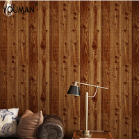 Wallpapers Youman 3D Modern Waterproof Wallpaper Wood Grain Retro For Wall In Rolls For Bathrooms For Kids Room For Living Room