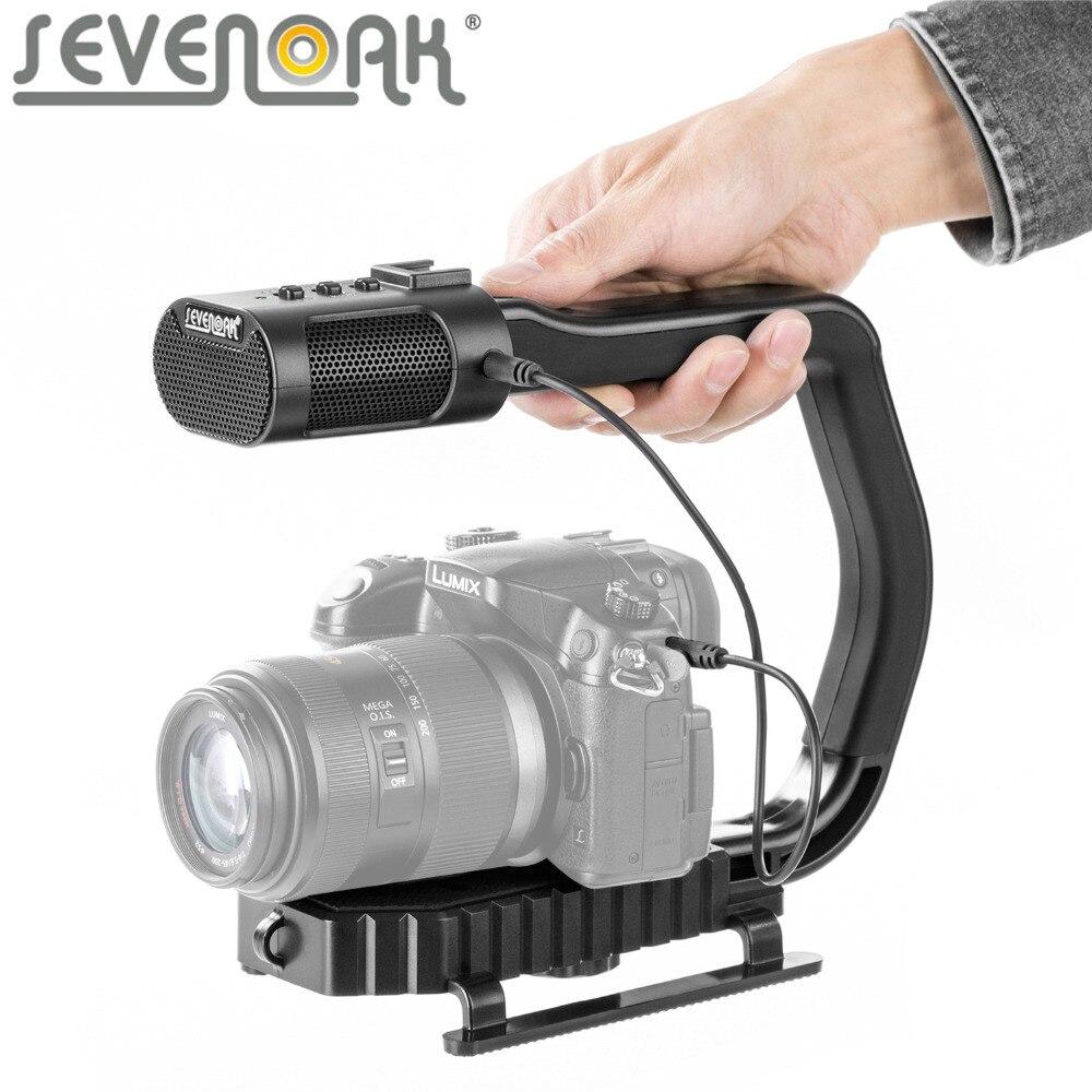 SEVENOAK MicRig poignée vidéo universelle poignée avec Microphone stéréo intégré pour iPhone Smartphone GoPro DSLR caméra caméscope