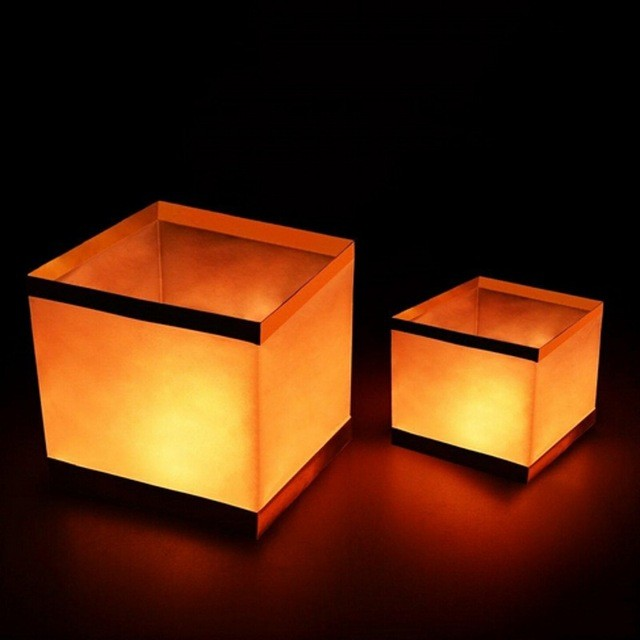 100pc Lot Outdoor Water Floating Candle Lanterns Biodegradable White Chinese Paper Lantern for Wishing