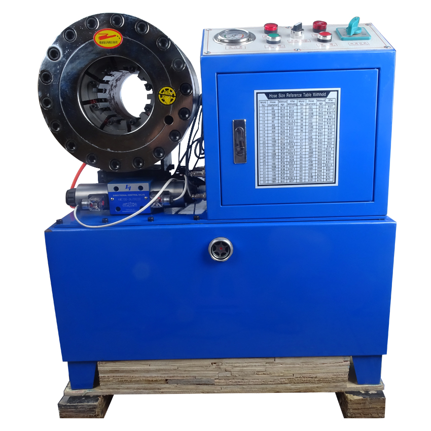 High quality BNT68 hydraulic hose crimping machine 1/4 to 24SH/SP 31.5Mpa system pressure rated 560T Max. pressure ship by sea hose hugger max 3 x 34