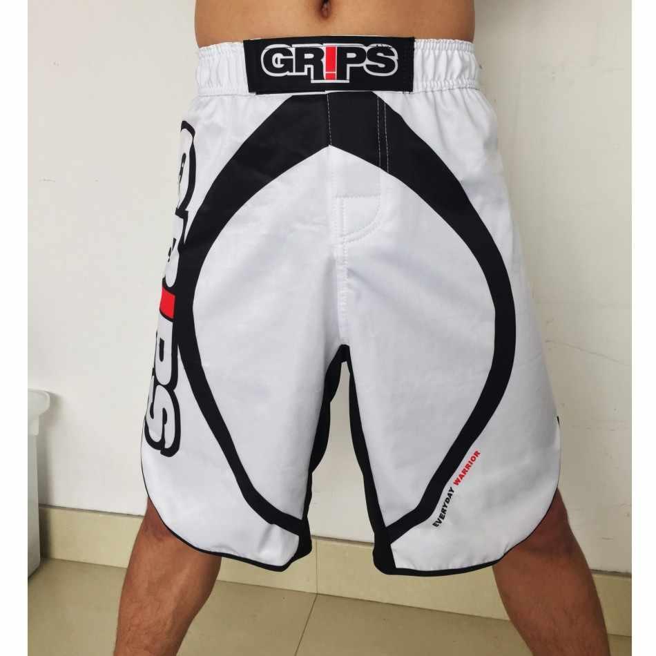Suotf mma boxe match treinamento de fitness amarelo solto personalidade respirável algodão boxer shorts muay thai mma luta shorts