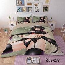 Mxdfafa Anime DATE A LIVE Quilt cover set Comforter Bedding Sets Duvet Cover Set Include 1 and 2 dakimakura