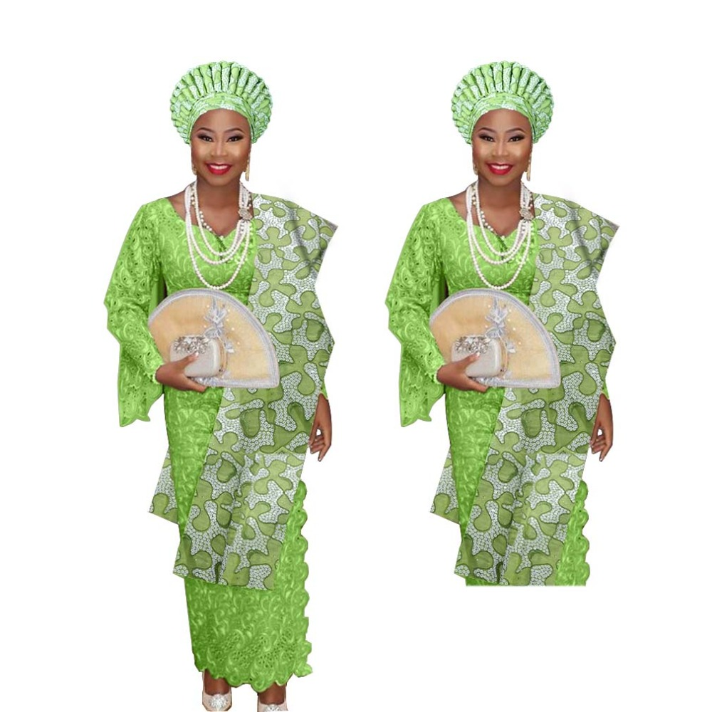 New arrived headtie for nigerian women auto gele with shoulder gele together