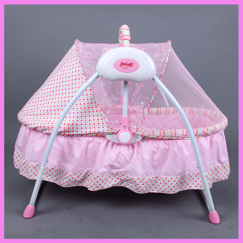 Multi-function Baby Electric Cradle Newborn Portable Foldable Crib Rocking Bed Electric Newborn Cradle Swing Bed Adjustable 0~6M 2017 new babyruler portable baby cradle newborn light music rocking chair kid game swing