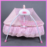 Multi function Baby Electric Cradle Newborn Portable Foldable Crib Rocking Bed Electric Newborn Cradle Swing Bed Adjustable 0~6M
